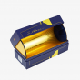Blue & Gold Foil Liquor Hinged Box with Insert