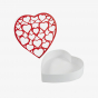 Heart Shaped Box with Red Heart Layer
