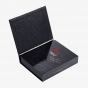 Soft Touch Black Embossed Cigar Box