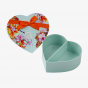 Flower Heart Shaped with Ribbon