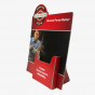 Red Single Bin Flyers and Pamphlets Display