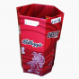 Red Hexagonal Snack Dump Bin