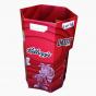 Red Hexagonal Dump Bin for Snacks