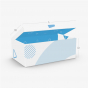 Folding Carton One Piece Tray And Lid With Double Side Walls
