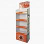 Orange Four-Shelf Display