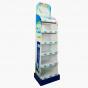 Blue and White Six-Shelf Display
