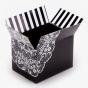 Black & White Printed Slotted Box