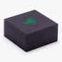 Black Hinged Box with Green Logo